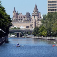 Kayakers on the Rideau Canal