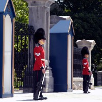 Guards in front of Government House in Canada`s capital