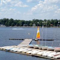 Sail boats on the Ottawa River at the New Edinburgh Club