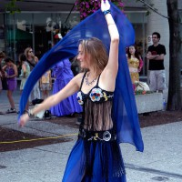 Belly Dancer performing at the Sparks Street Mall during the International Busker Festival