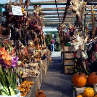 Seasonal items at outdoor stand in Ottawa`s By Ward market