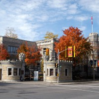 Royal Canadian Mint on Sussex Drive during fall