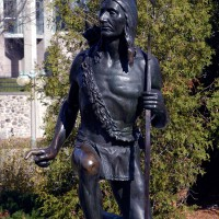 Anishinabe Scout statue in Ottawa`s Majors Hill Park