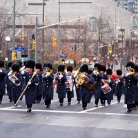 Marching band during Remembrance Day parade