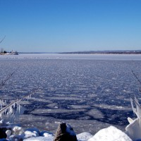 Frozen Ottawa River near Andrew Haydon Park