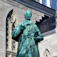 Statue of Joseph Eugene Guigues first Bishop of Ottawa 1848-1874