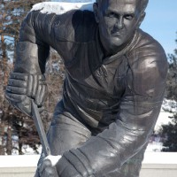Statue of hockey legend Maurice Rocket Richard