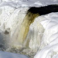 Hogs Back frozen waterfall