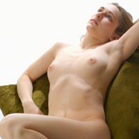 Figure model laying on pillow