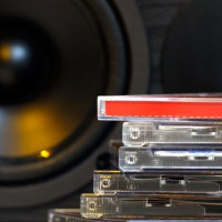 CD`s in front of Speaker