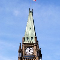 Canadian Parliament`s Peace tower