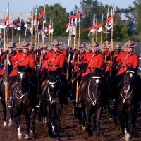 Royal Canadian Mounted Police during Musical Ride sunset show