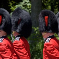 Ceremonial Guards during changing of the guards at Rideau Hall