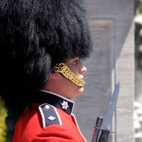 Ceremonial Guards in front of Rideau Hall entrance