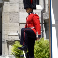 Ceremonial Guard in front of the Governor General residence