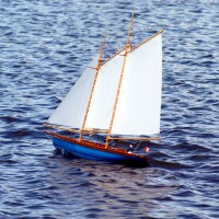Remote controlled sail boat at Andrew Haydon Park