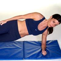 Women doing floor exercises