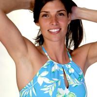 Smiling women in swimsuit