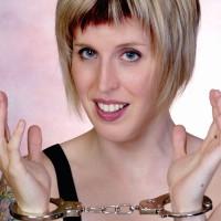 Pretty woman in handcuffs
