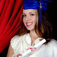 Pretty student with diploma