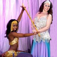 Belly dancers with canes
