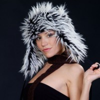 Pretty girl in a furry hat