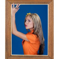Woman inside a picture frame